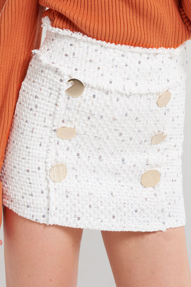 Michelle Speckled Button Skort-2 Colors