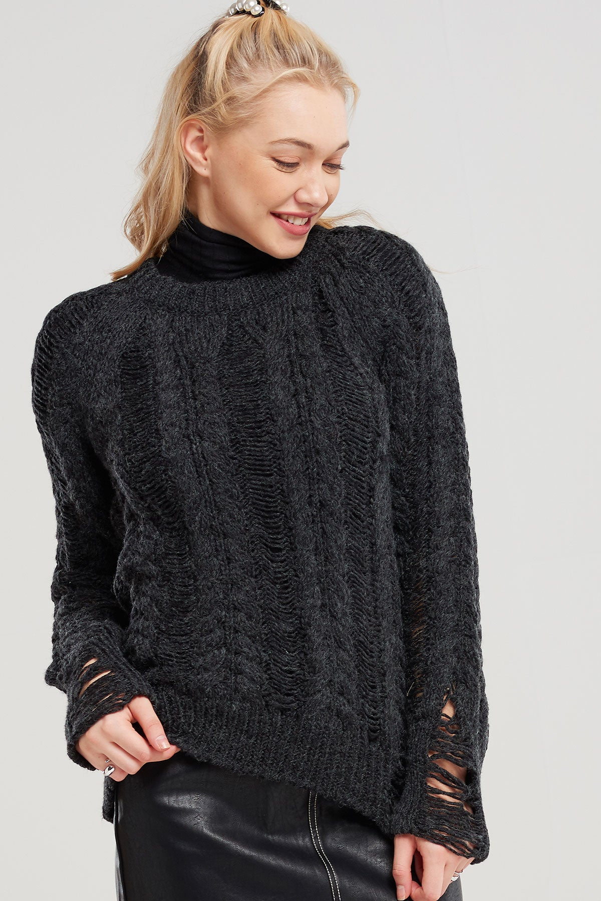 Drew Stretched Knit Sweater-2 Colors