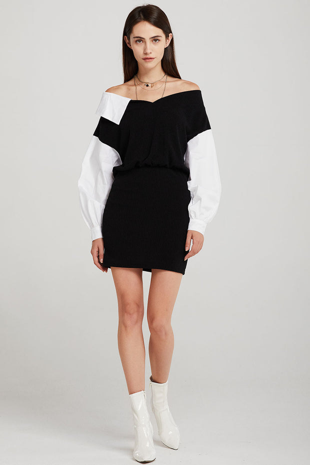 Linnett Asymmetric Collar Dress