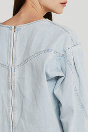 Jade Structured Denim Top