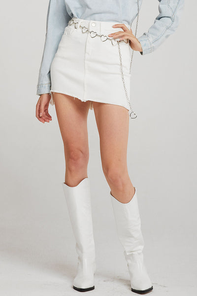 storets.com Brooke Raw Hem Mini Skirt