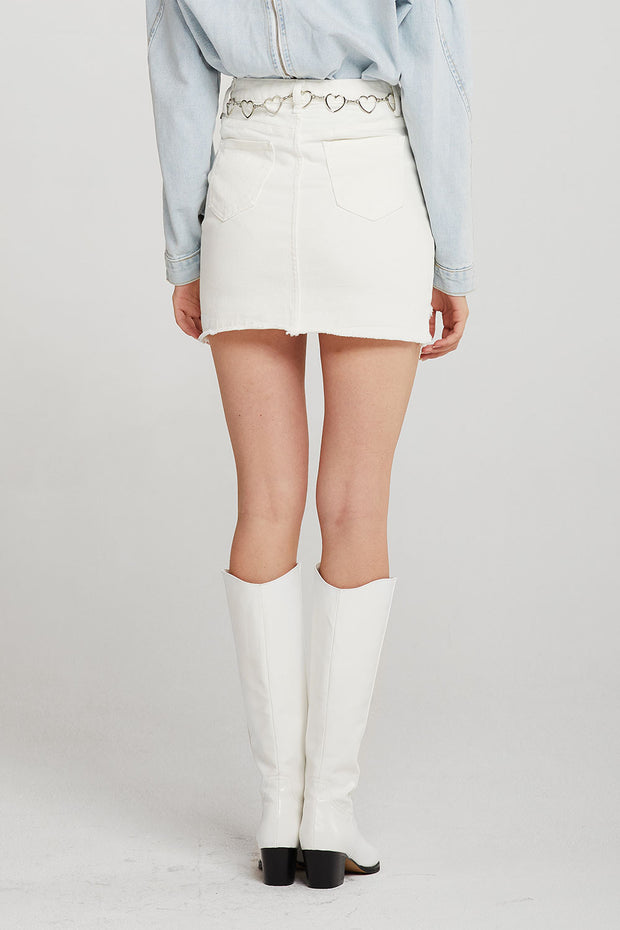 Brooke Raw Hem Mini Skirt
