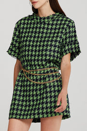 Anna Houndstooth Shift Dress