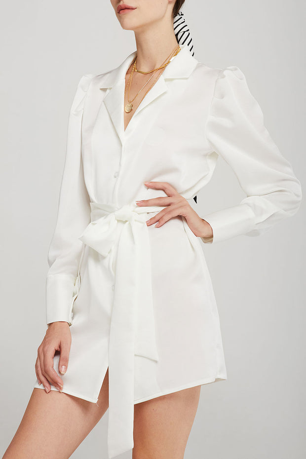 storets.com Naomi Notch Collar Shirt Dress