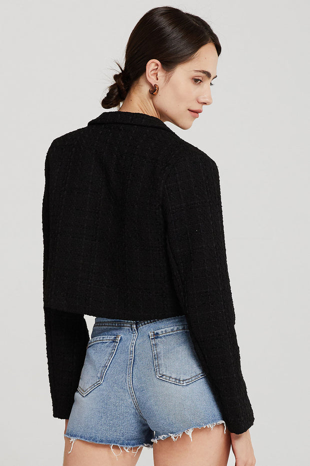 Hadley Boucle Crop Top And Jacket Set