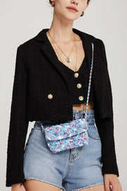 storets.com Hadley Boucle Crop Top And Jacket Set