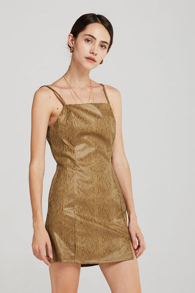 storets.com Leah Cami Dress in Snake Print