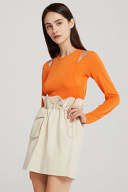 Finley Cold Shoulder Overlay Top