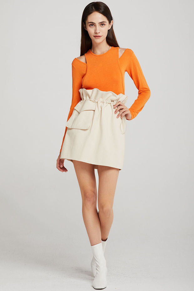 Adelyn Paperbag Waist Cargo Skirt