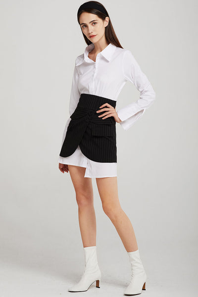 Sarah Shirt Dress And Overlay Skirt Set