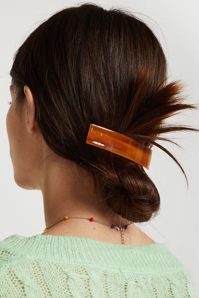 Square Acrylic Hair Barrette