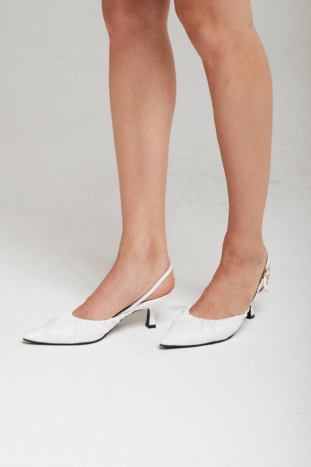 Ruched Slingback Heels