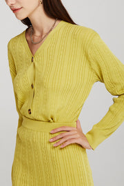 Cora Cable-Knit Cardigan 2-Piece Set