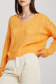 Ariel Cable-Knit Cropped Jumper