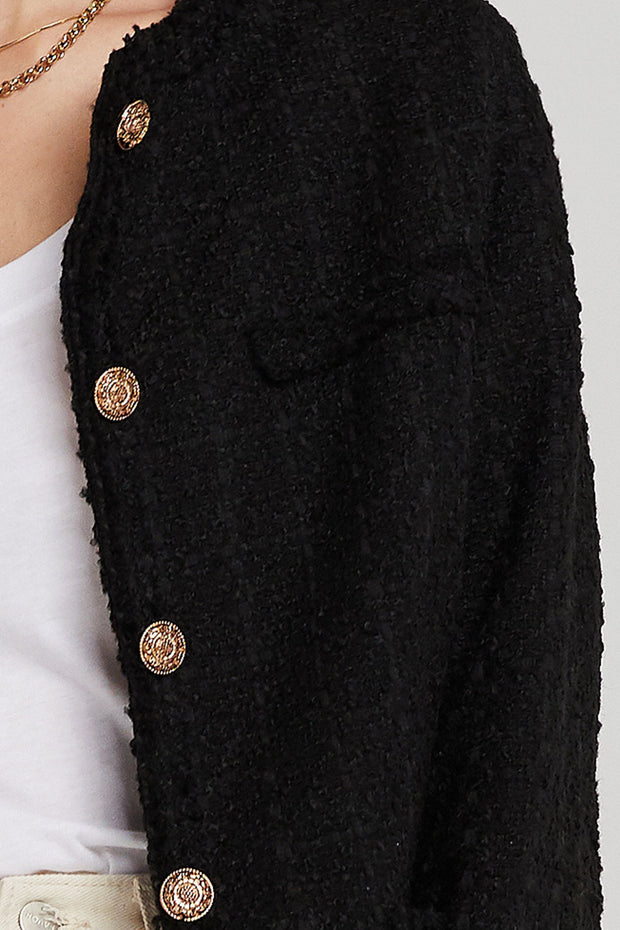 storets.com Peyton Collarless Boucle Jacket