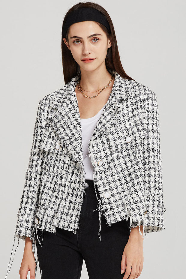 Sadie Cropped Tweed Jacket
