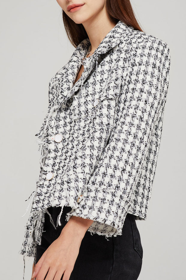 storets.com Sadie Cropped Tweed Jacket