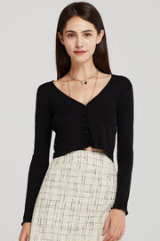 Clara Slim Fit Cropped Cardigan