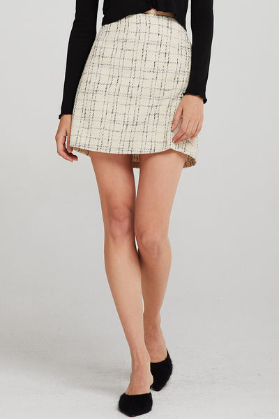 Alexa Tweed Mini Skirt
