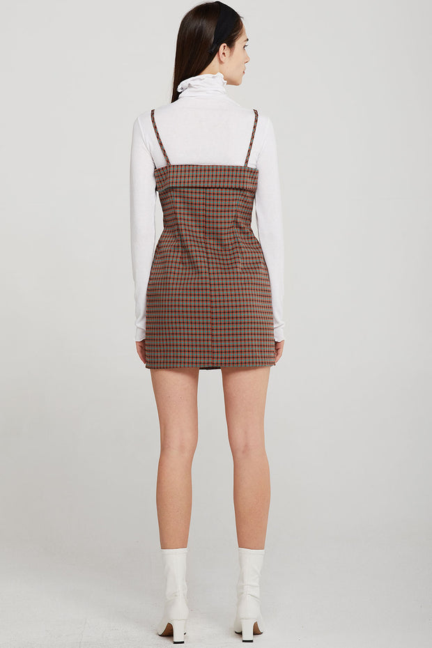 Allison Cami Dress in Check