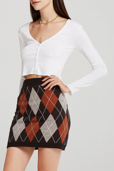 Sara Argyle Knitted Skirt