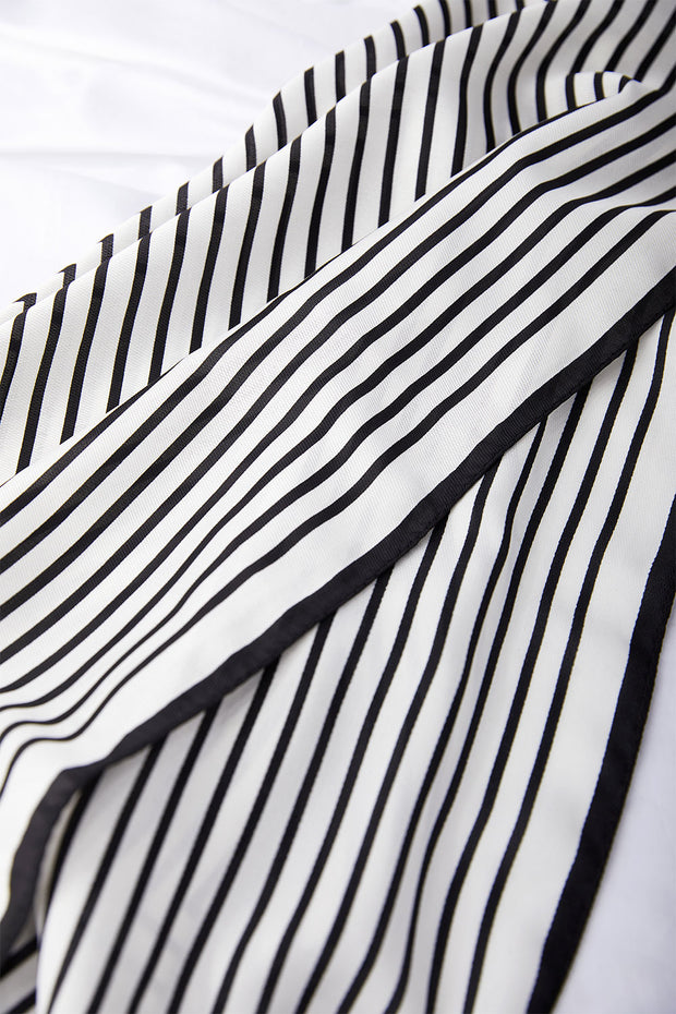 Striped Square Scarf