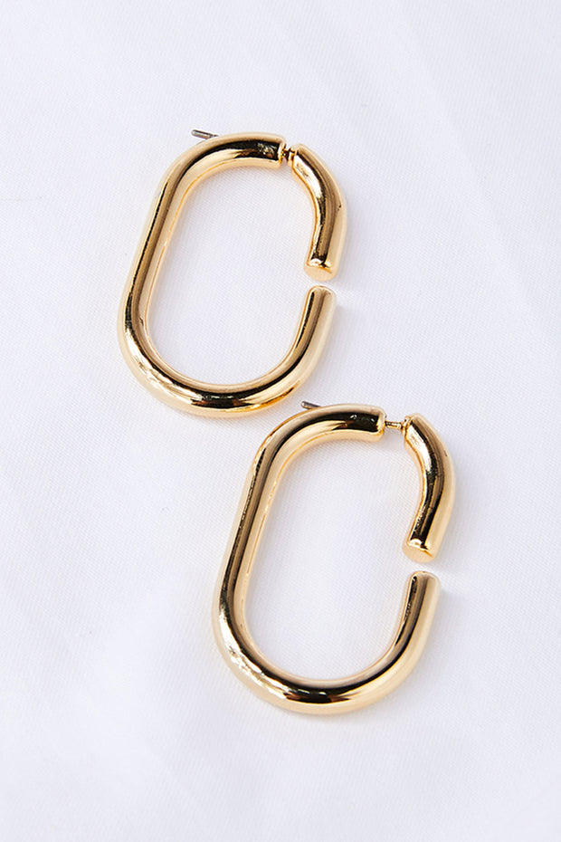 storets.com Oval Hoop Earrings