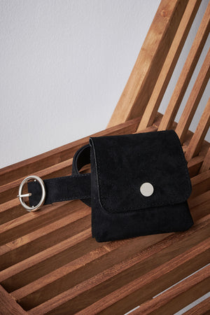 Suede Print Belt Bag