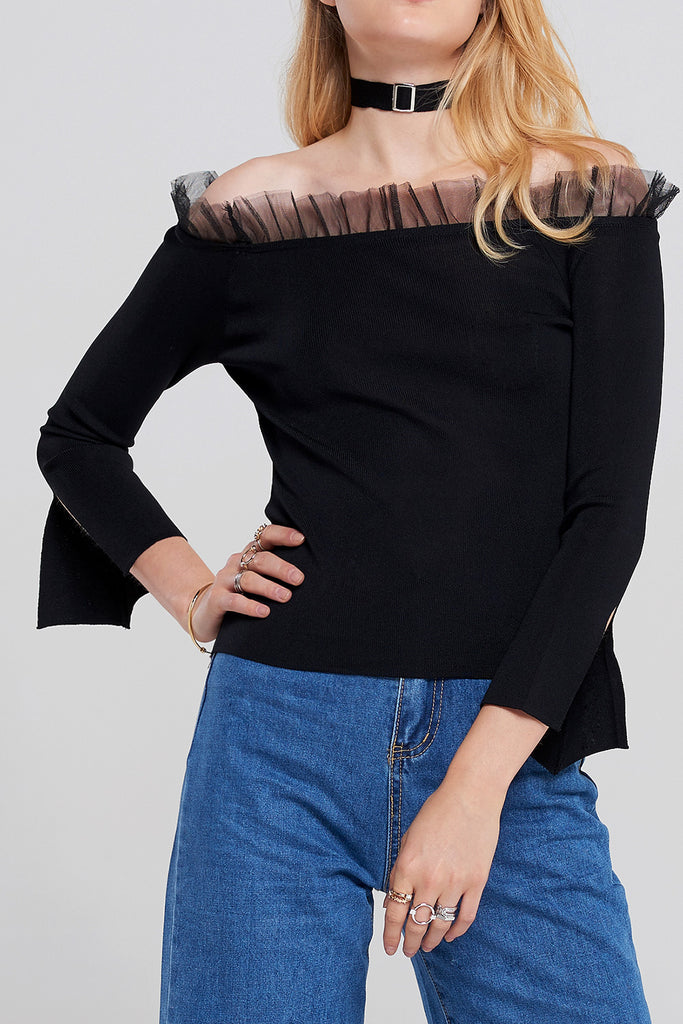 Margot Off Shoulder Top with Choker