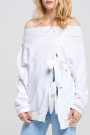 Jaimie Shirring Sleeve Sweatshirt