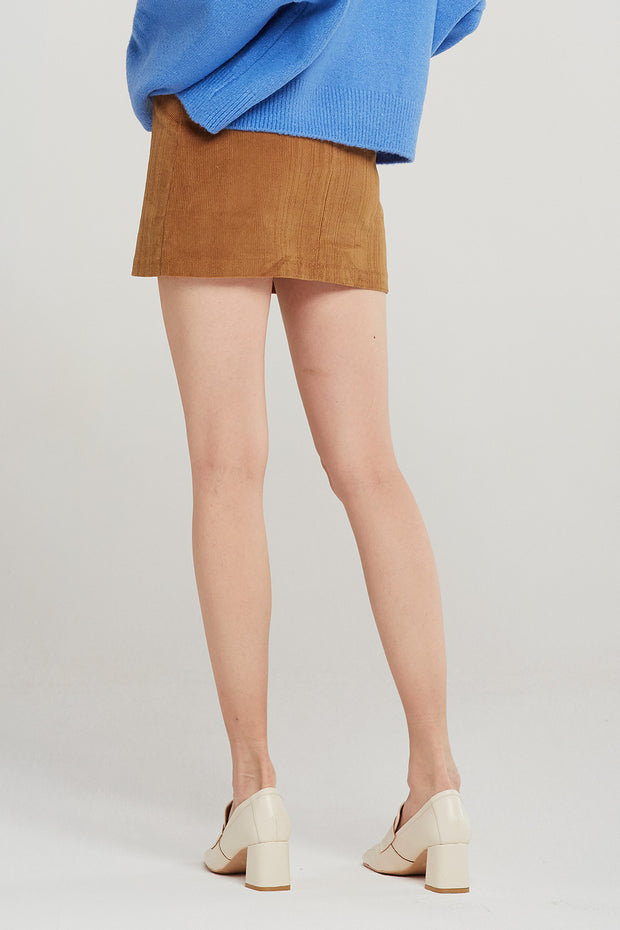 Tessa Cord Mini Skirt