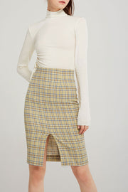 Brynn Plaid Midi Skirt