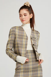 Evelyn Plaid 2-Piece Suit Set