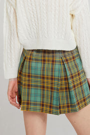 Joy Tartan Check Pleated Skirt