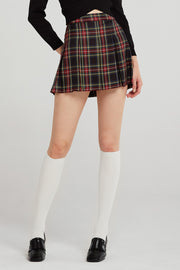 storets.com Mika Tartan Check Pleated Skirt