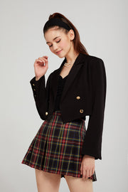 Hazel Double Breasted Cropped Jacket
