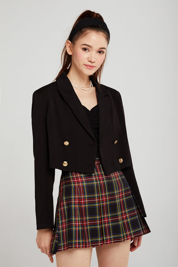 storets.com Hazel Double Breasted Cropped Jacket
