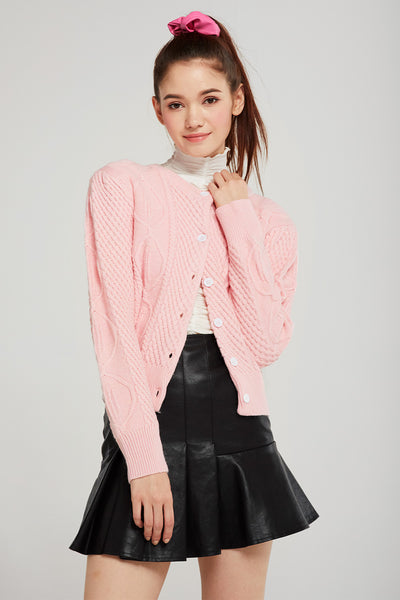 Lucy Cable Knit Cardigan