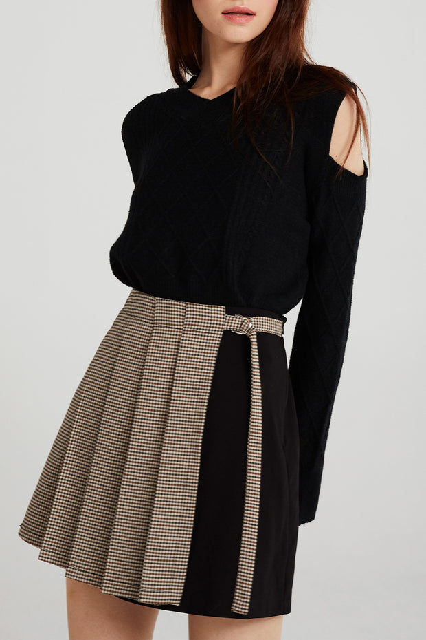 storets.com Kinley Pleated Wrap Skirt
