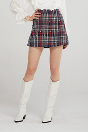 storets.com Blair Pearl Embellished Tweed Skort