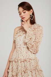 Leah Floral One Shoulder Dress