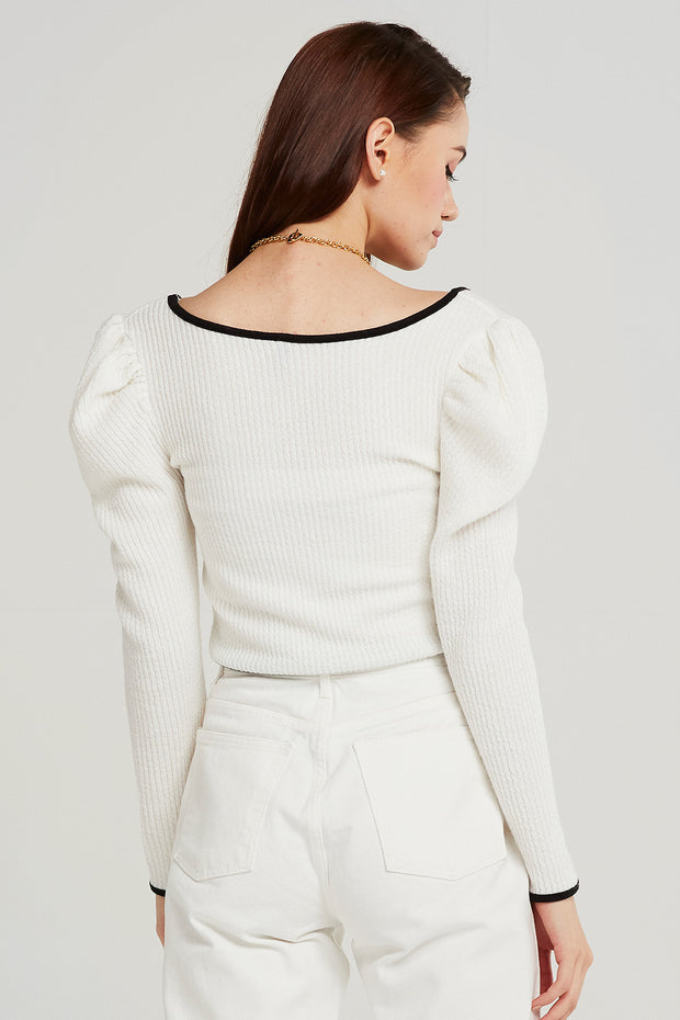 Josie Puff Sleeve Crop Top