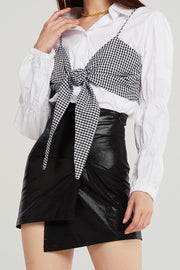 Molly Shirt And Gingham Bustier Set