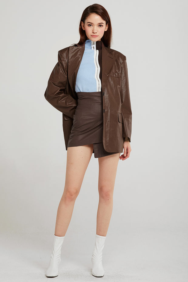 Sadie Shine Coated Oversized Jacket