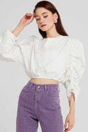 Emery Ruched Sleeve Blouse