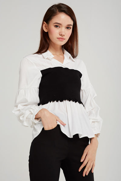 storets.com Esther Tube Top Layered Shirt