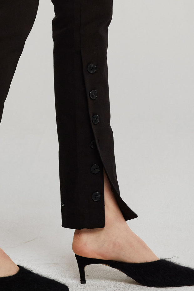 Kiara Button-Ankle Pants