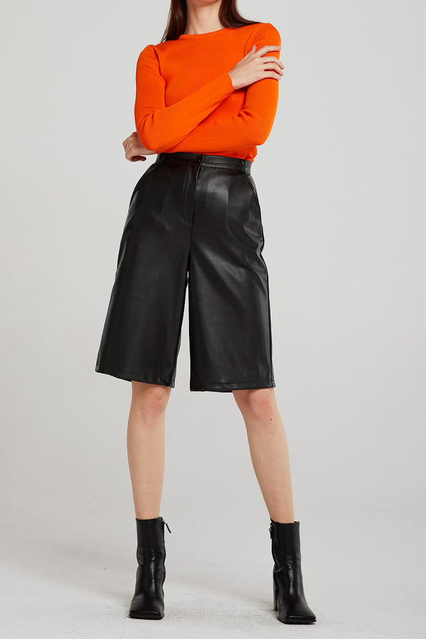 Heidi Pleather Bermuda Shorts