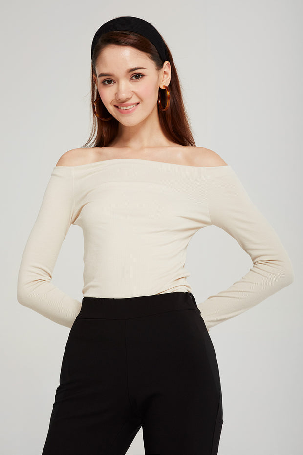 Jade Off-the-Shoulder Knit Top
