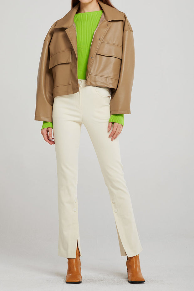 Willow Pleather Cropped Jacket